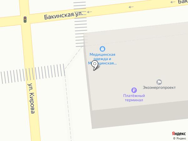 Баракат на карте Астрахани