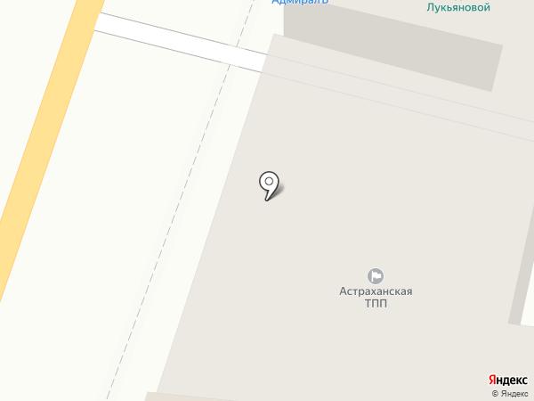 Астраханская торгово-промышленная палата на карте Астрахани