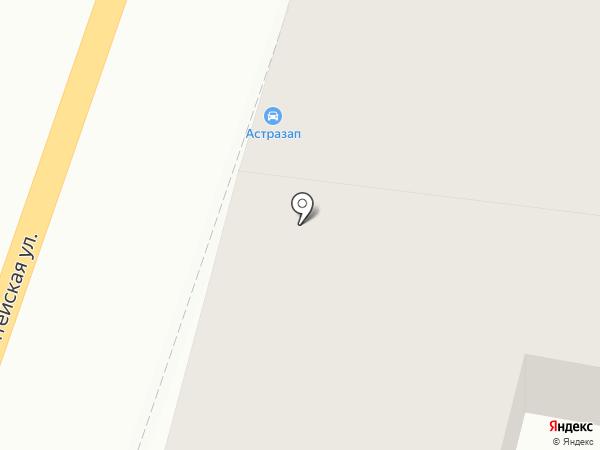 Амисоль на карте Астрахани