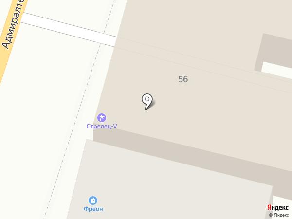 Стрелец-V на карте Астрахани