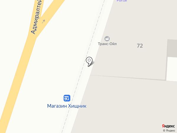 Транс-Ойл на карте Астрахани