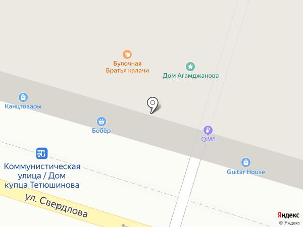Бобёр на карте Астрахани