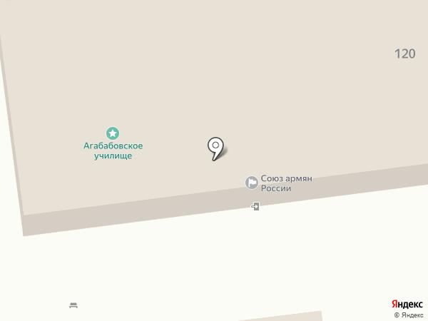 Арев на карте Астрахани