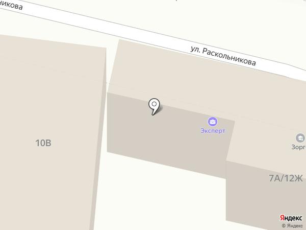 Азурит на карте Астрахани