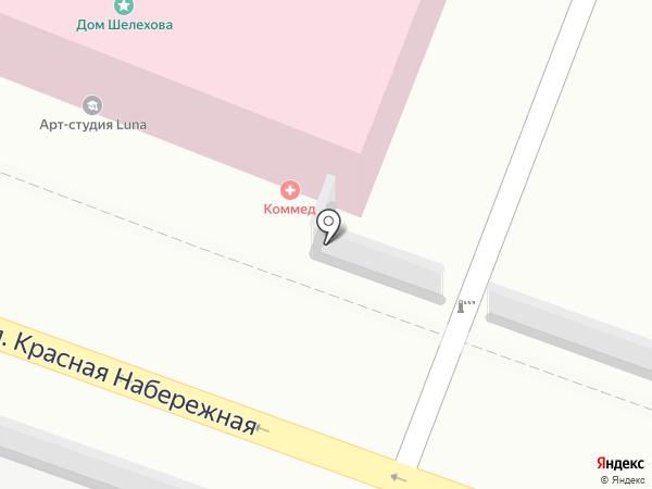 КОММЕД на карте Астрахани
