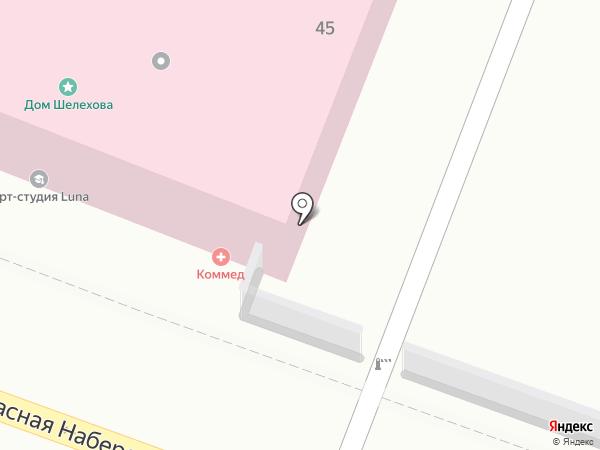 Золотая Долина на карте Астрахани