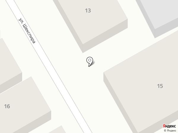 ПервоПечатник на карте Астрахани