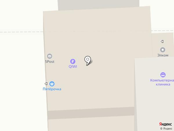Элком на карте Астрахани