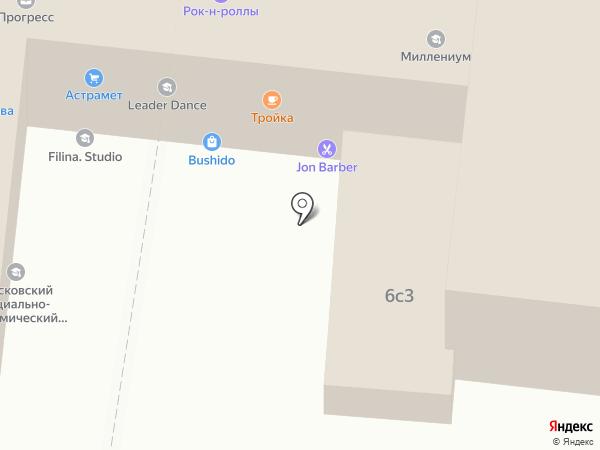 Беркат на карте Астрахани