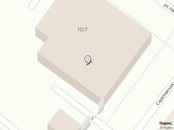 Родна на карте Астрахани