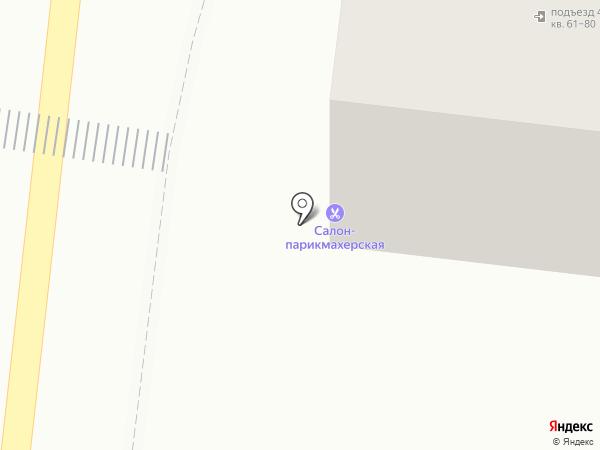 Красный круг на карте Астрахани