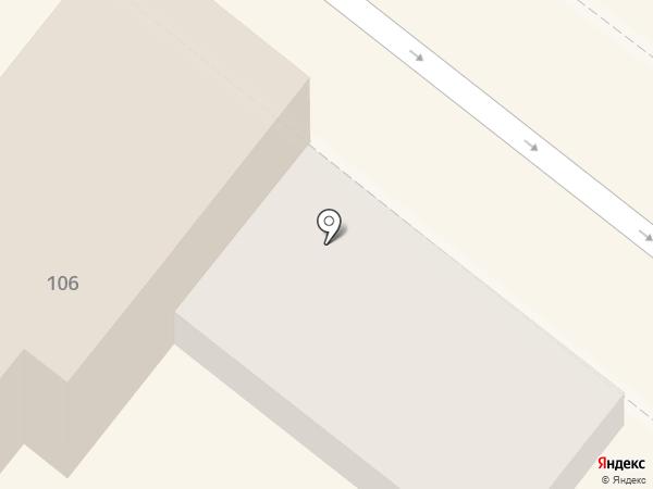 Велоколесо на карте Астрахани