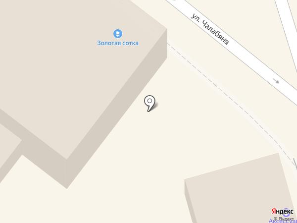 Золотая сотка на карте Астрахани