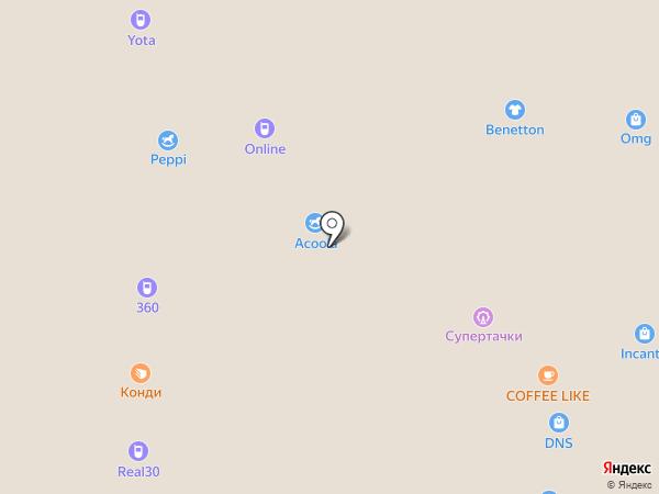Acoola на карте Астрахани