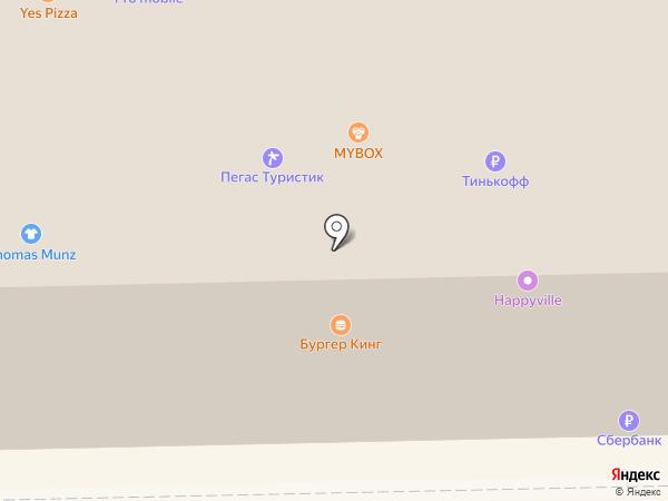 Парасоле на карте Астрахани