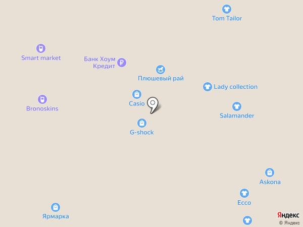 Красный куб на карте Астрахани