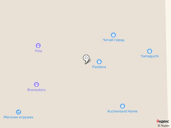 PANDORA на карте Астрахани