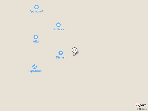 Элис на карте Астрахани