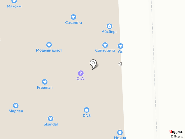 Магазин верхней женской одежды на карте Астрахани