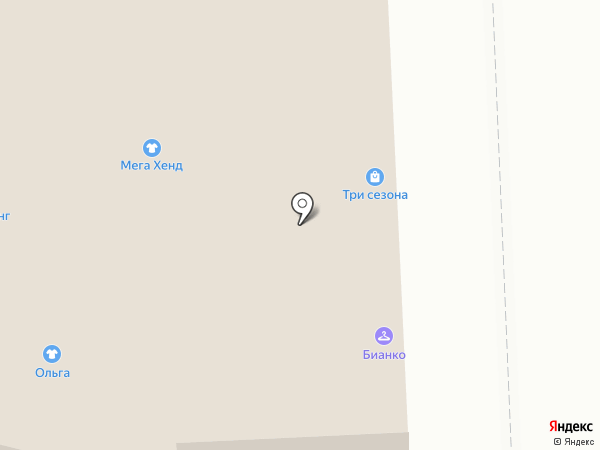 Магазин женской обуви и джинсовой одежды на карте Астрахани