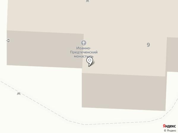 Иоанно-Предтеченский мужской монастырь на карте Астрахани