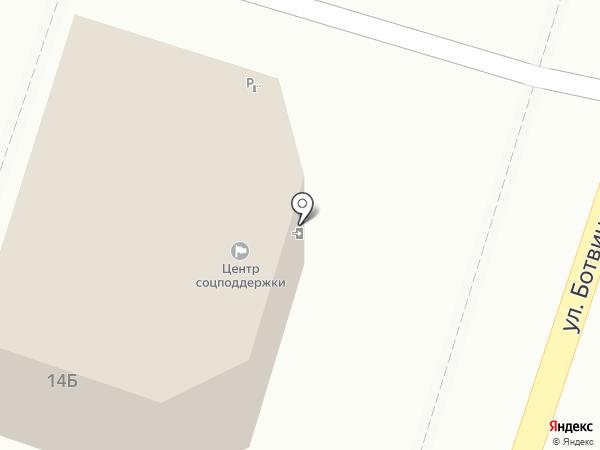 Центр социальной поддержки населения Ленинского района г. Астрахани на карте Астрахани