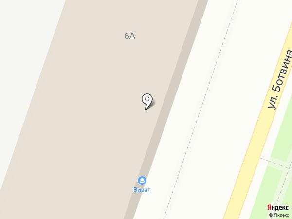 Виват на карте Астрахани