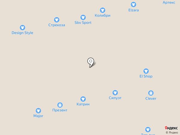 Магазин женской и мужской обуви на карте Астрахани
