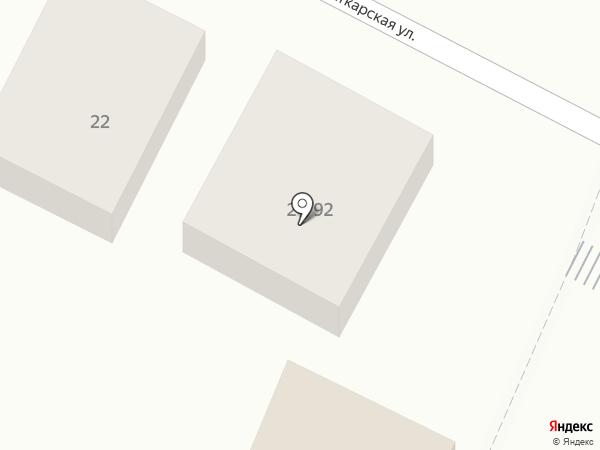Модный дворик на карте Астрахани