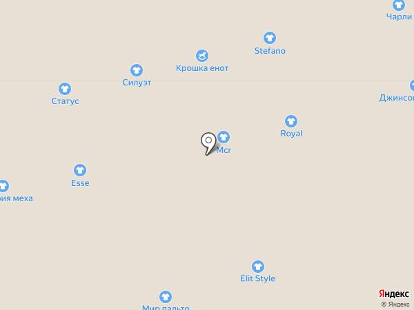 Силуэт на карте Астрахани