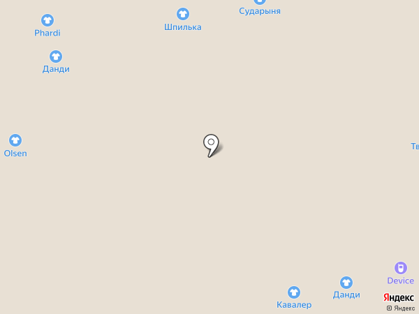 Афродита на карте Астрахани