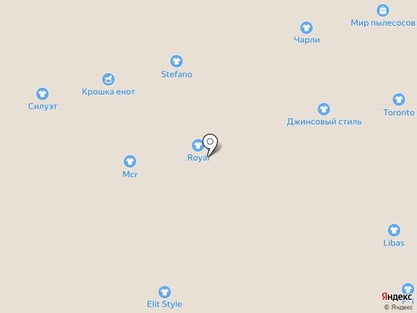 Павильон ремней на карте Астрахани