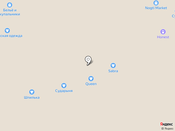 Бутик по продаже женской одежды на карте Астрахани