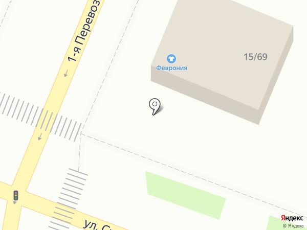 Феврония на карте Астрахани