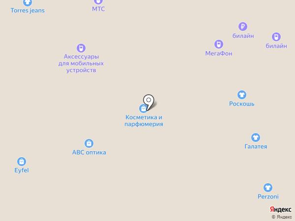 Коса краса на карте Астрахани