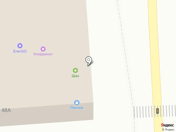 Юмми на карте Астрахани