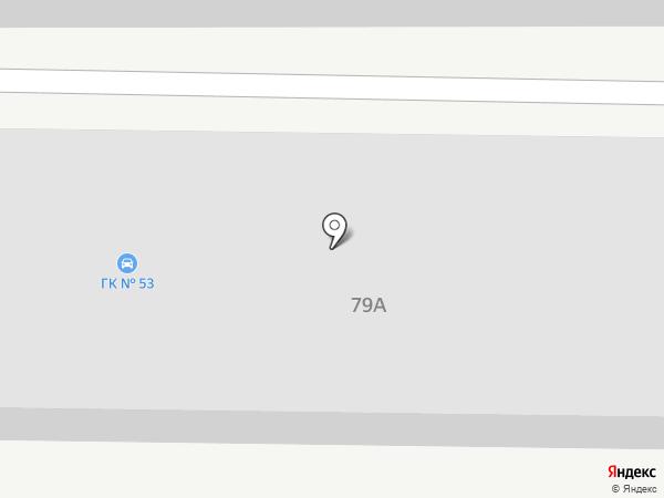 Гаражный кооператив №53 на карте Астрахани