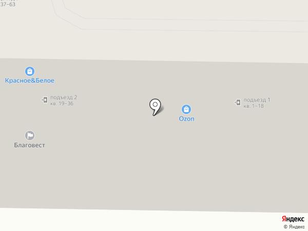 Благовест на карте Астрахани