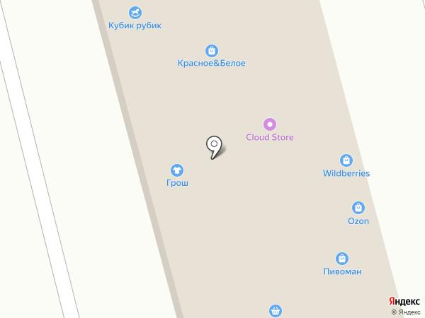Дворцовый ряд на карте Ишеевки