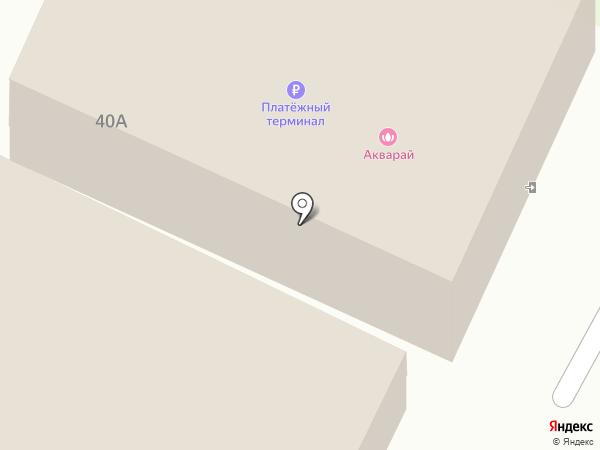 Акварай на карте Ульяновска