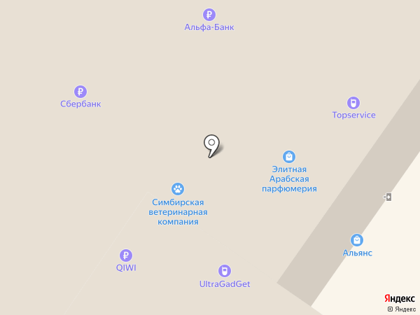Manzana на карте Ульяновска