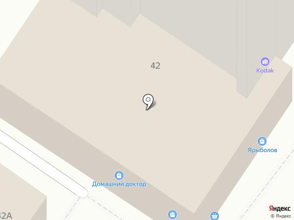Турист на карте Ульяновска