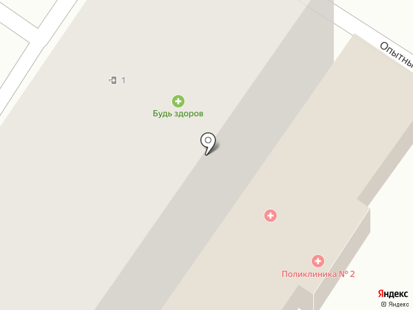 Поликлиника №2 на карте Ульяновска