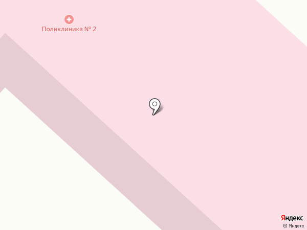 Городская поликлиника №2, ЦГБ на карте Волжска