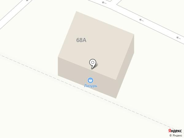 Лазурь на карте Волжска