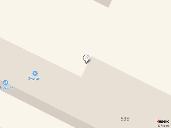 Элегант на карте Волжска