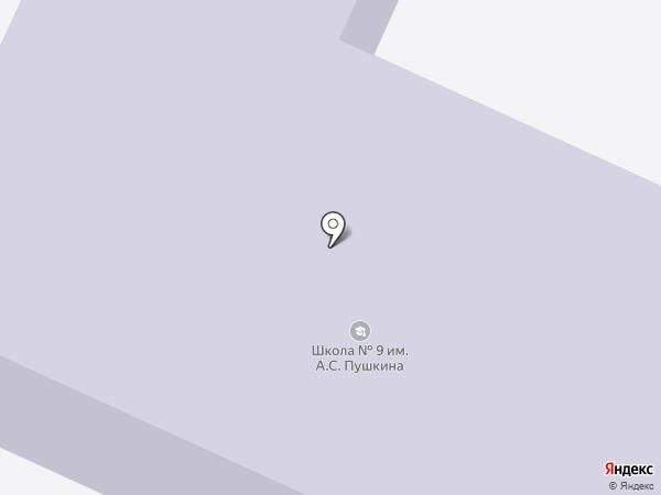 Средняя общеобразовательная школа №9 на карте Волжска