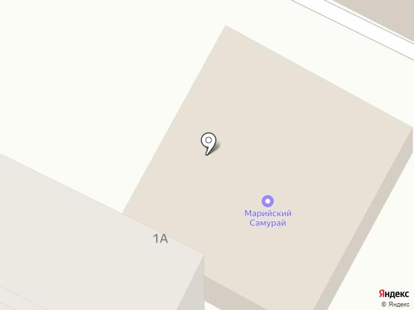 Продуктовый магазин на ул. 107 Бригады на карте Волжска