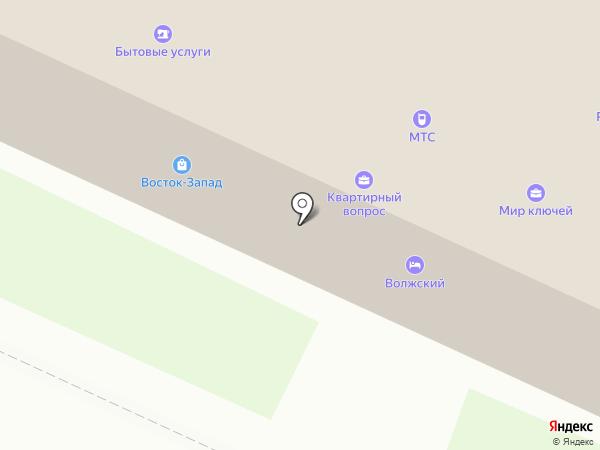 Синяя птица на карте Волжска
