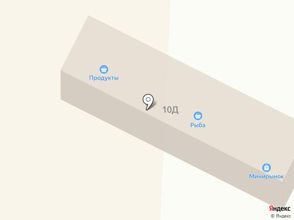 Магазин фруктов и овощей на ул. 107 Бригады на карте Волжска